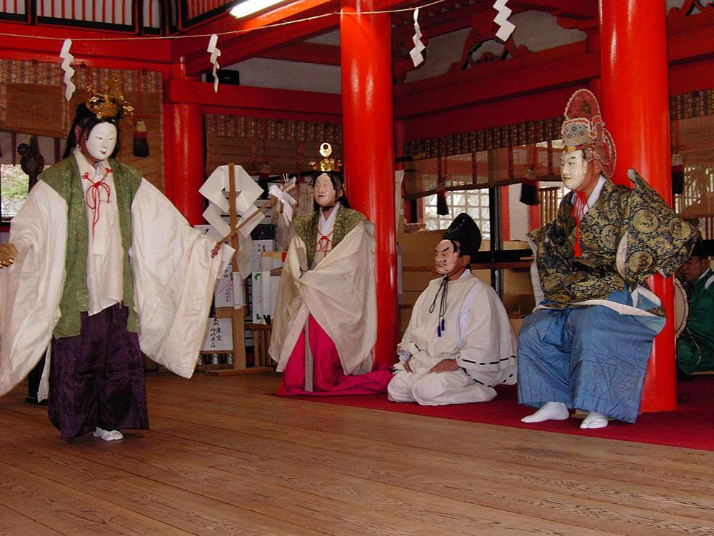 甲府市 金櫻神社の太々神楽