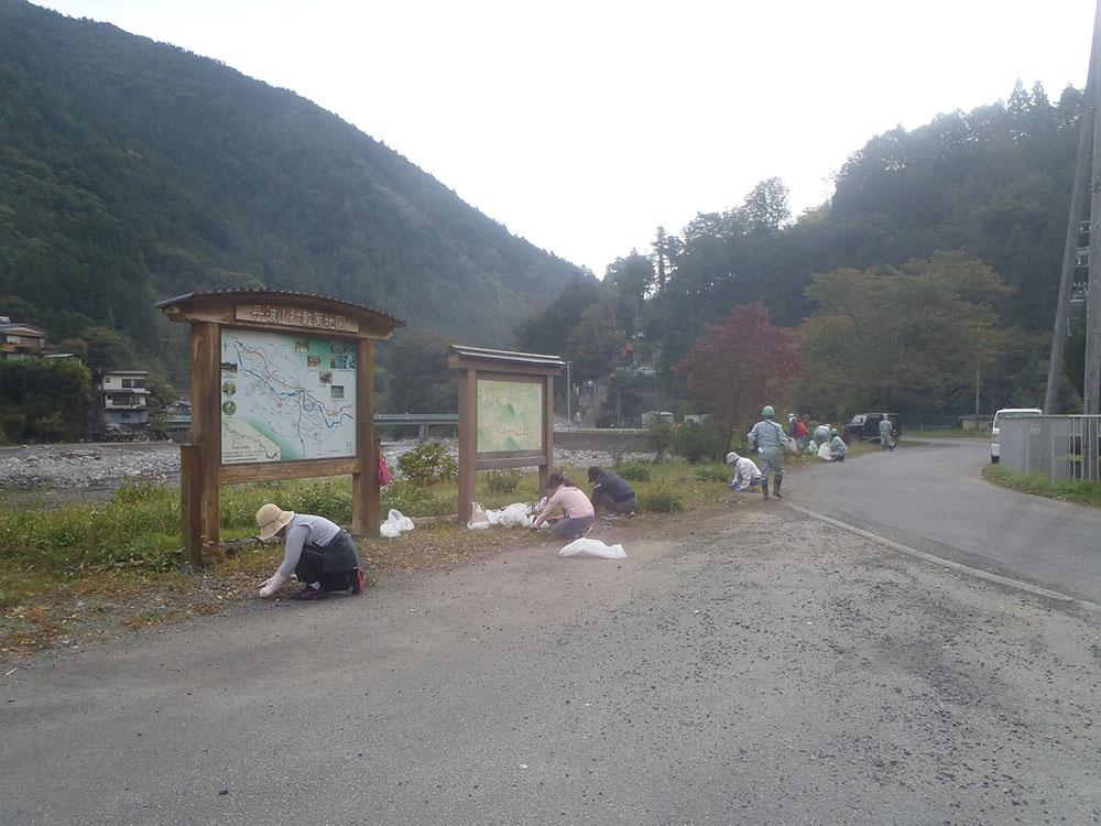 丹波山村 地域清掃活動